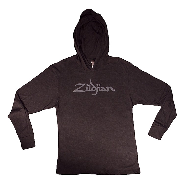 Zildjian Long Sleeve Hooded Shirt, Black Extra Large Extra Large