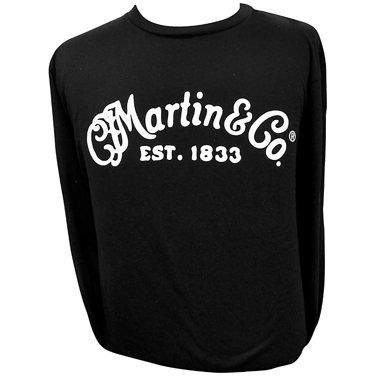 Martin Long Sleeve Signature T-Shirt Small Black