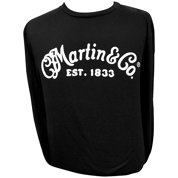 Martin Long Sleeve Signature T-Shirt X Large Black