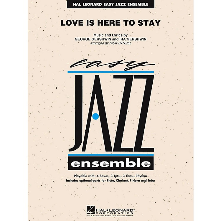 Hal LeonardLove Is Here To Stay Jazz Band Level 2