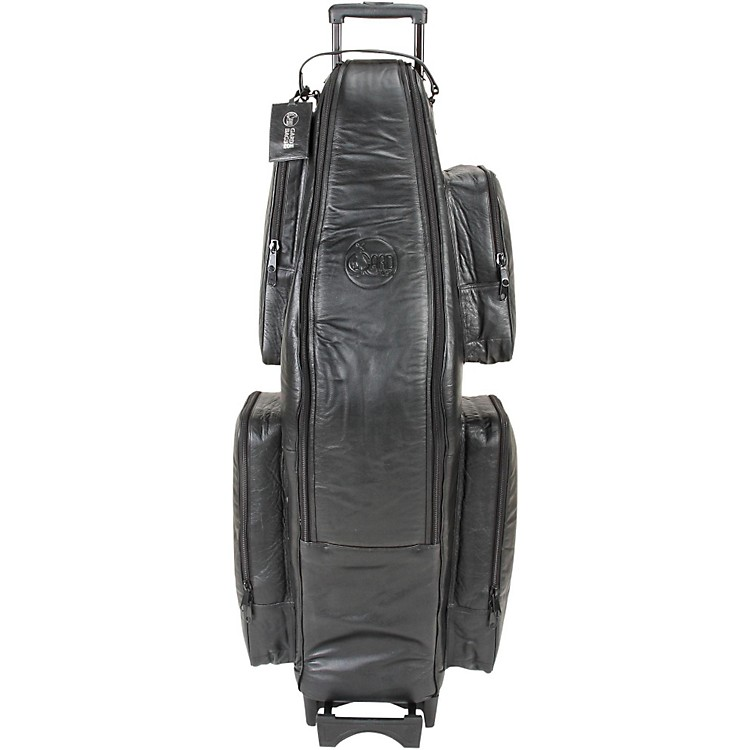 Gard Low Bb Baritone Saxophone Wheelie Bag 107-WBFLK Black Ultra Leather