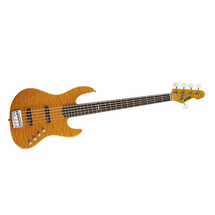 ESPLtd Elite J-5  5-String Electric Bass GuitarAmber