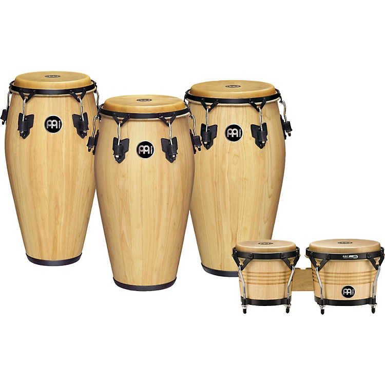 meinl luis conte 3 piece conga set with free bongos music123. Black Bedroom Furniture Sets. Home Design Ideas
