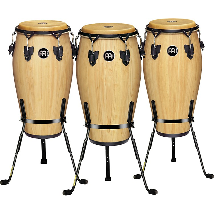 Meinl Luis Conte 3 Piece Conga Set with Free Basket Stands