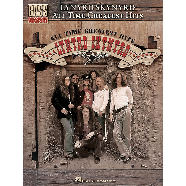 Hal Leonard Lynyrd Skynyrd - All Time Greatest Hits Bass Guitar Tab Songbook