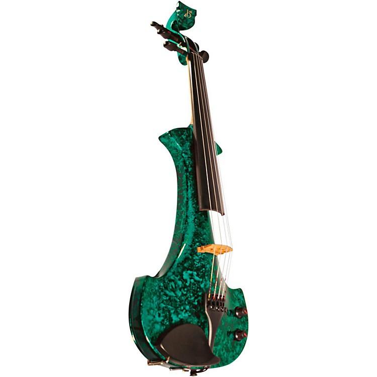 BridgeLyra Series 5-String Electric ViolinGreen Marble