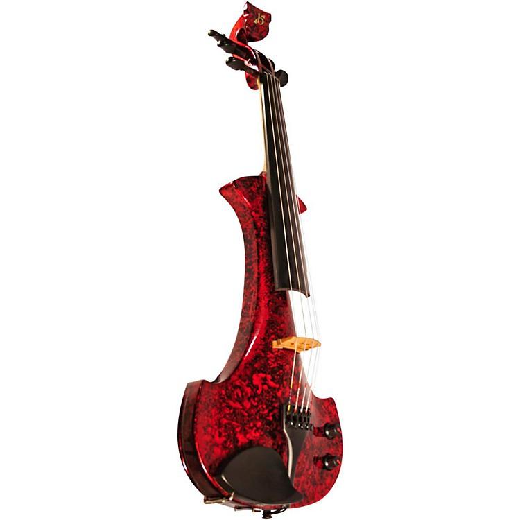 BridgeLyra Series 5-String Electric ViolinRed Marble