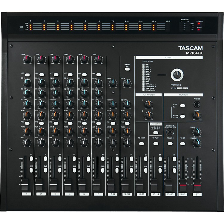 TASCAM M-164FX 16-Input Mixer with Effects