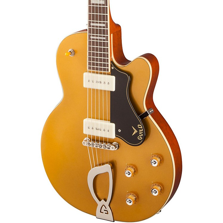 GuildM-75 Aristocrat Hollowbody Archtop Electric GuitarGold