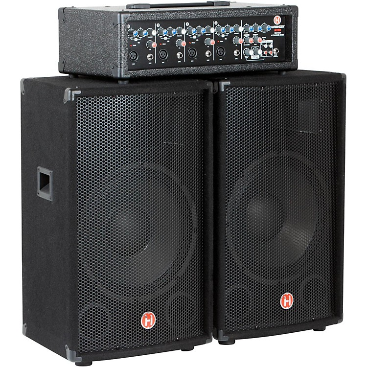 HarbingerM120 120 Watt 4 Channel Compact Portable PA with 12