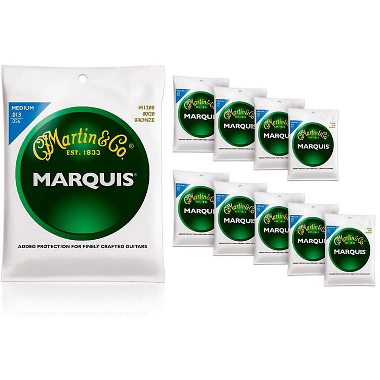 MartinM1200 Marquis 80/20 Bronze Medium 10-Pack Acoustic Guitar Strings