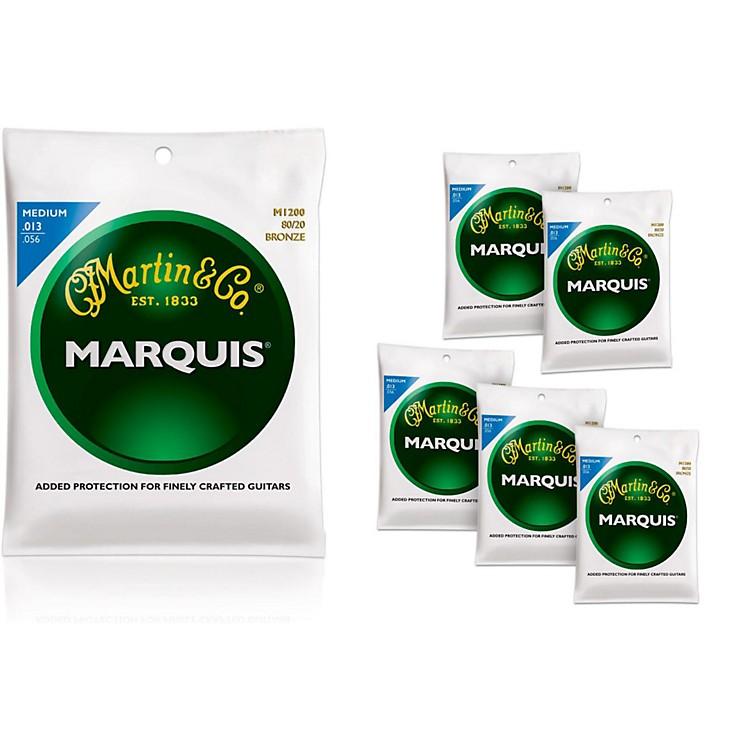 MartinM1200 Marquis 80/20 Bronze Medium Acoustic Strings 6 Pack