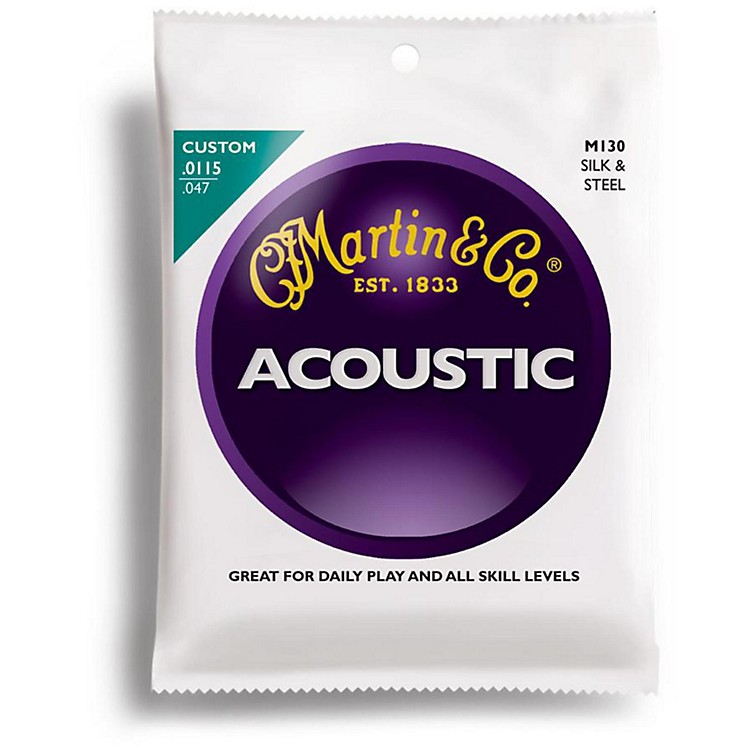 MartinM130 Folk Guitar Silk and Steel Compound Wound Acoustic Strings