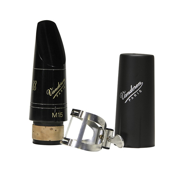 Vandoren M15 Profile 88 Bb Clarinet Mouthpiece package with M/O Pewter Ligature and Plastic Cap