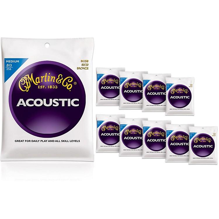 MartinM150 80/20 Bronze Medium 10-Pack Acoustic Guitar Strings