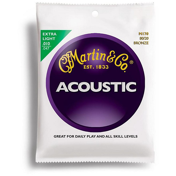 Martin M170 80/20 Bronze Round Wound Extra Light Acoustic Guitar Strings
