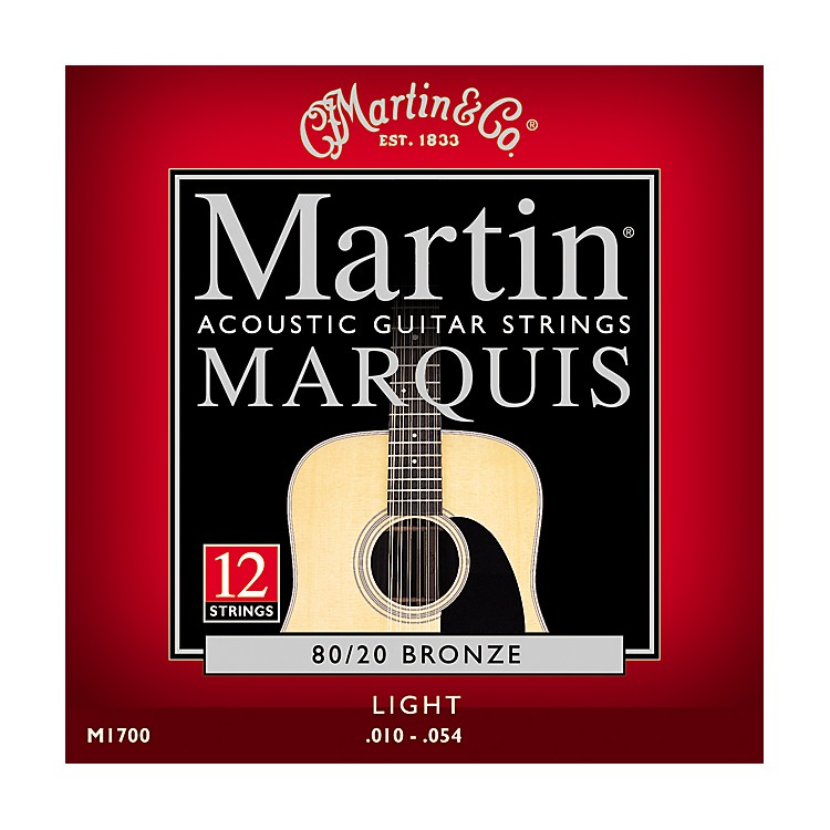 MartinM1700 Marquis 12-String 80/20 Bronze Light Acoustic Guitar Strings