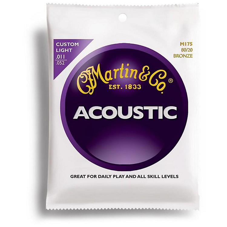 MartinM175 80/20 Bronze Custom Light Acoustic Guitar Strings