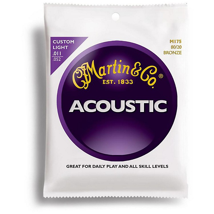 Martin M175 Traditional Bronze Custom Light Acoustic Guitar Strings