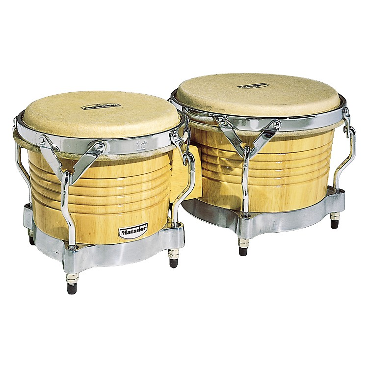 LP M201 Matador Wood Bongos Natural