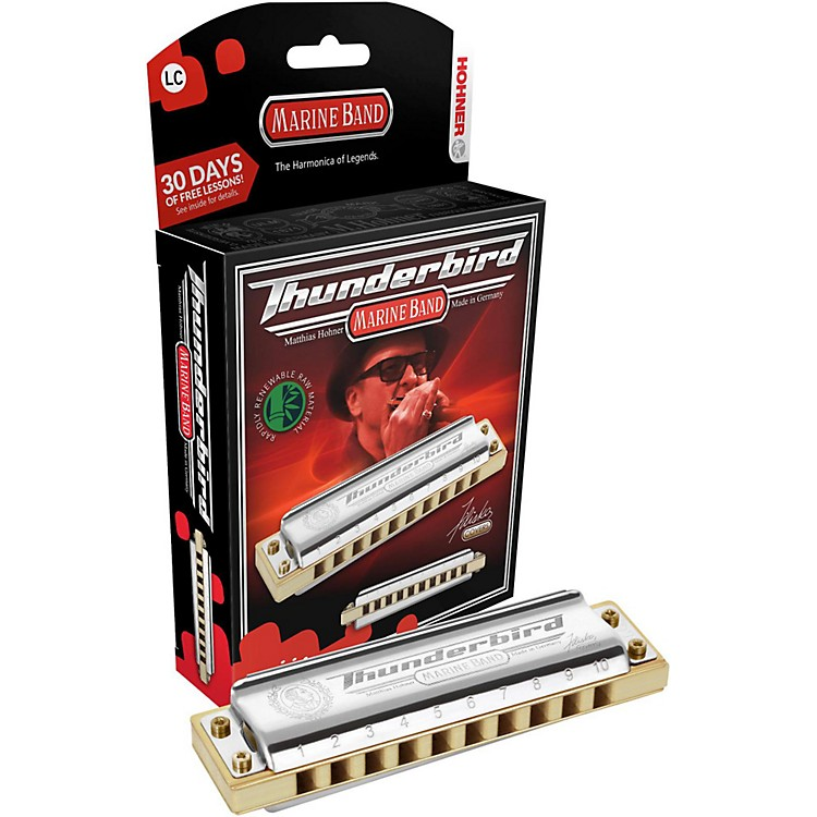Hohner M2011 Marine Band Thunderbird Low Tuned Harmonica Low Bb