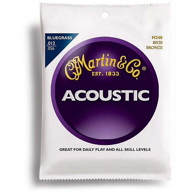 MartinM240 80/20 Bronze Bluegrass Medium Light Acoustic Guitar Strings
