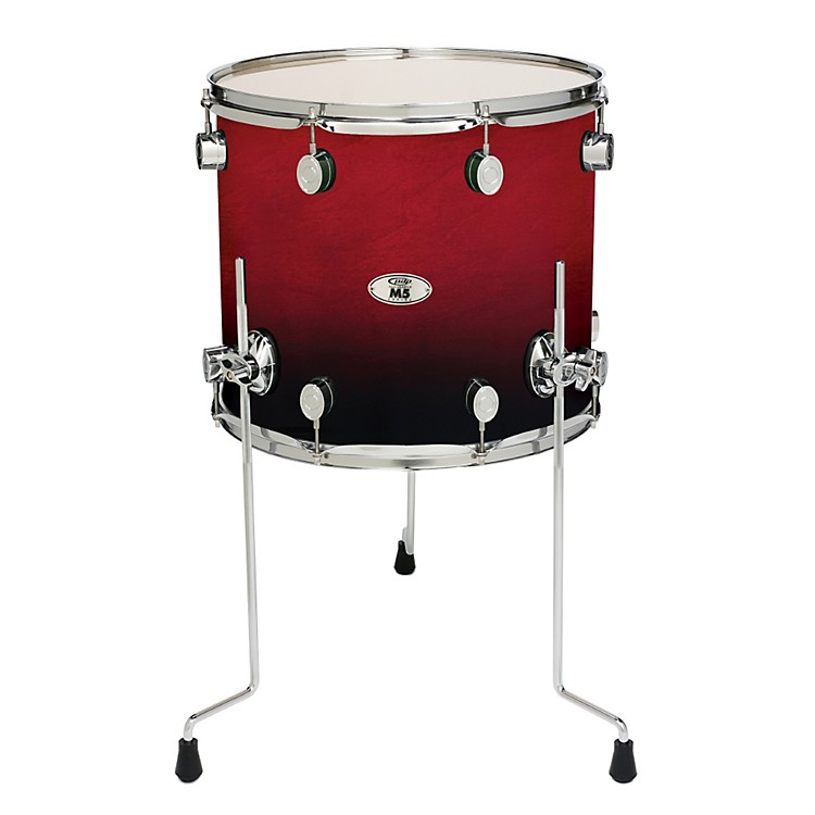 PDP M5 Floor Tom Drum Cherry Fade 16in