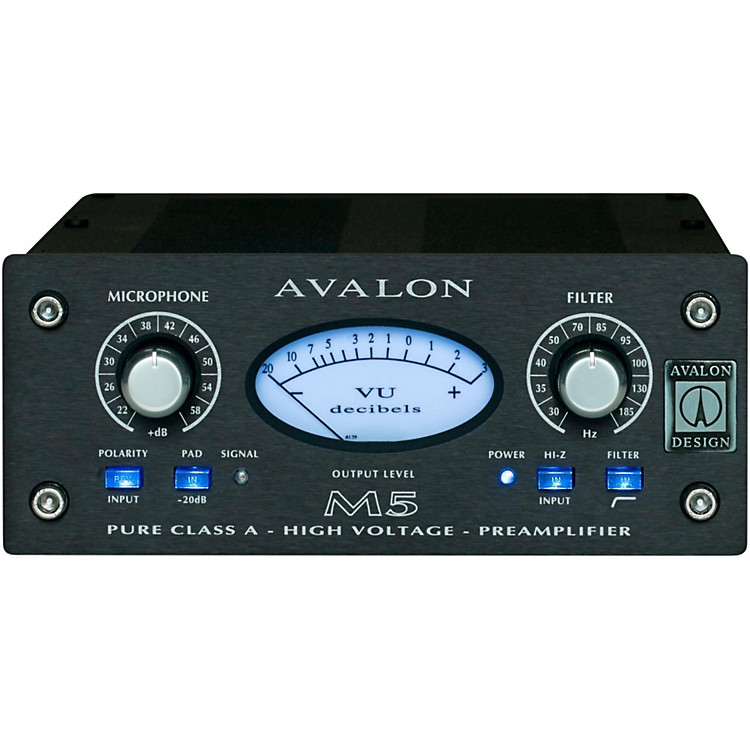 AvalonM5 Mono Pure Class A Microphone PreampSilver
