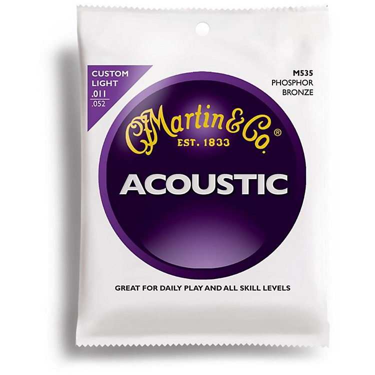 Martin M535 Traditional Phosphor Bronze Custom Light Acoustic Guitar Strings