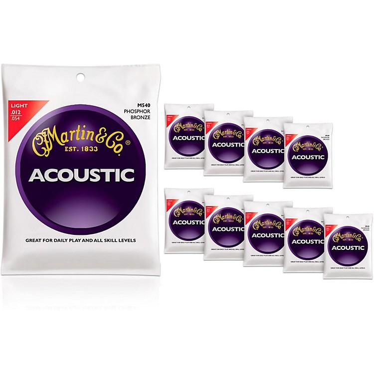 MartinM540 Phosphor Bronze Light 10-Pack Acoustic Guitar Strings