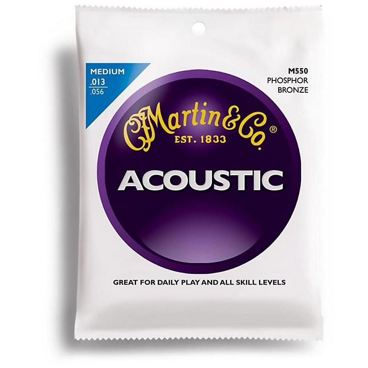 Martin M550 Medium Phosphor Bronze Acoustic Guitar Strings