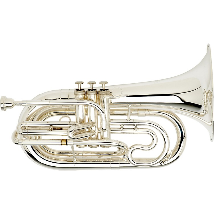 Dynasty M570 Marching Baritone M570Ts Silver With Micro Tune