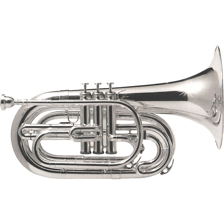 Dynasty M571S Silver Marching Baritone
