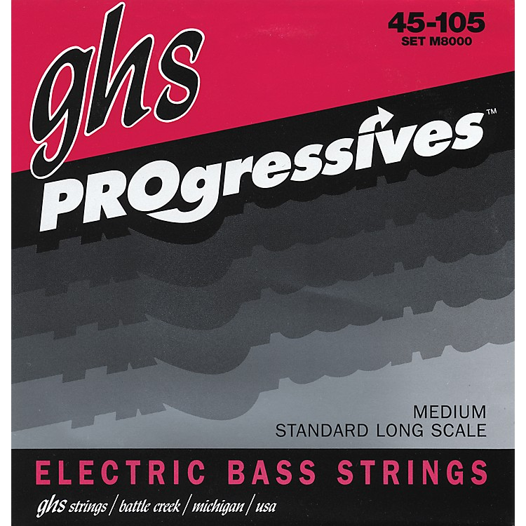 GHS M8000 Medium Progressives Electric Bass Strings
