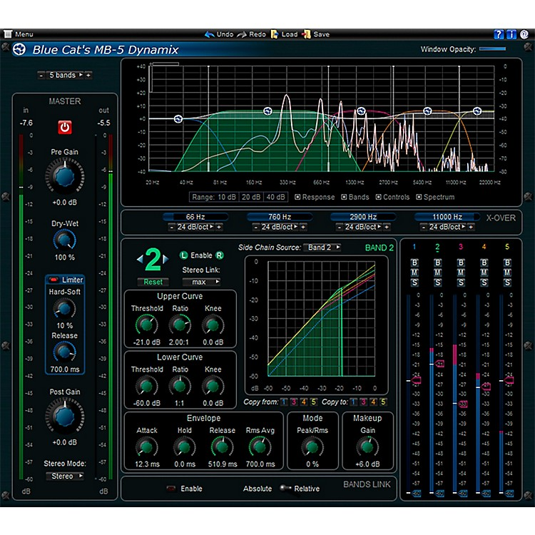 Blue Cat Audio MB-5 Dynamix Multiband Processor Software Download