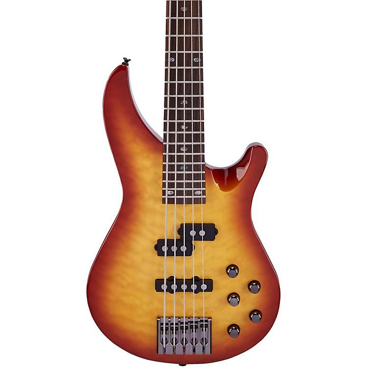 MitchellMB305 5-String Modern Rock Bass with Active EQHoney Burst