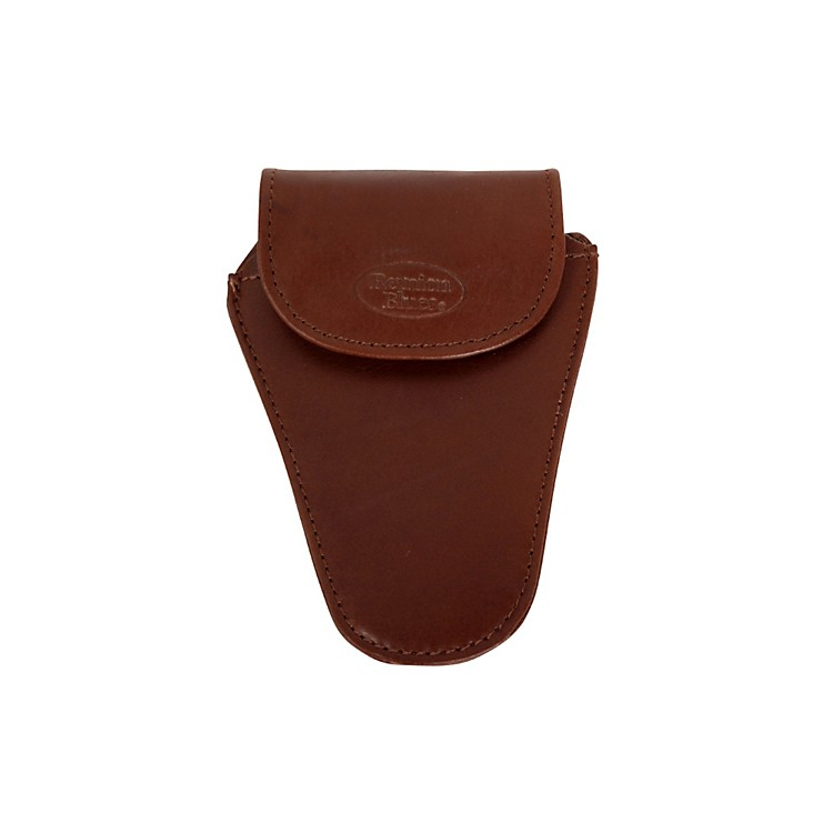 Reunion Blues MBTU Series Tuba Mouthpiece Pouch Chestnut Brown Leather