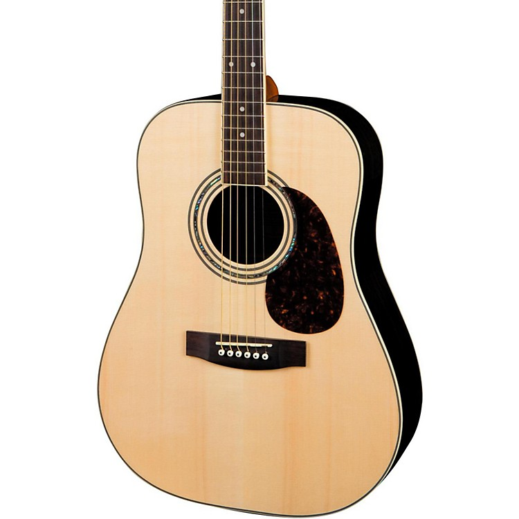 Mitchell MD200S Solid-Top Dreadnought Acoustic Guitar Natural