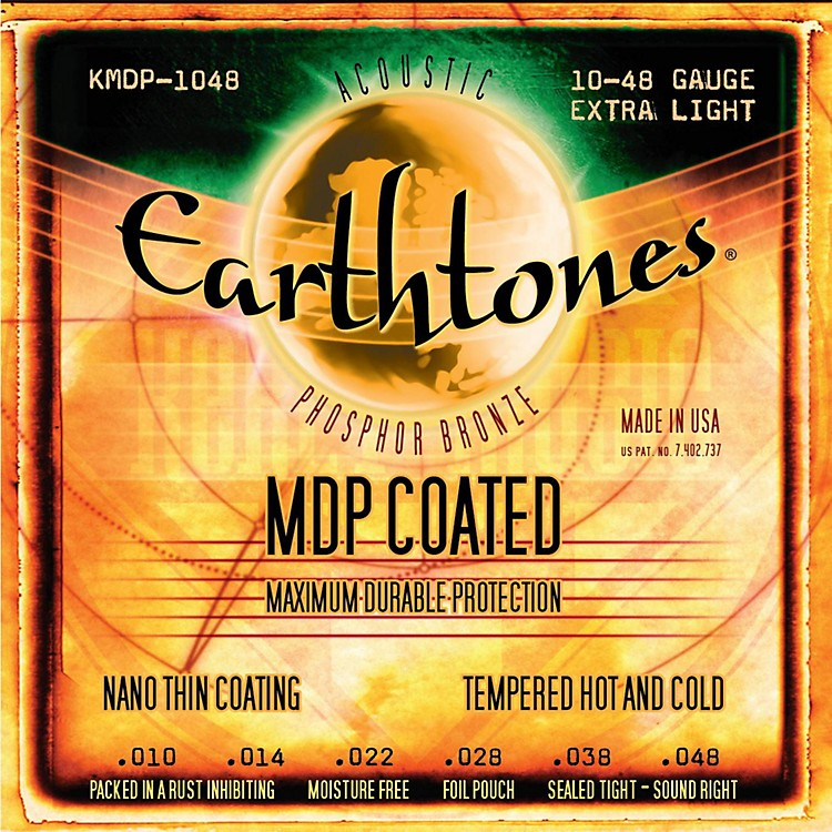Kerly Music MDP Earthtones PB Extra Light Coated Acoustic Guitar Strings