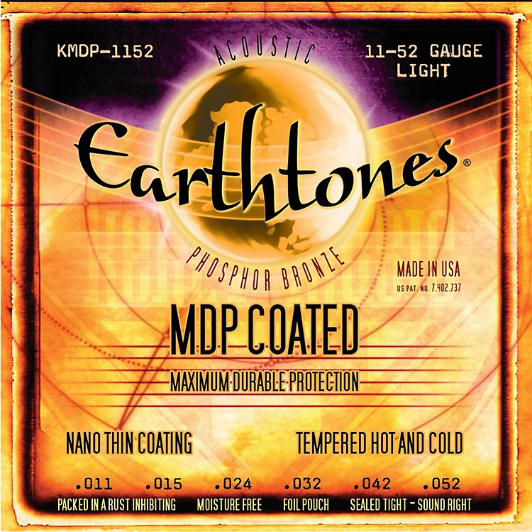 Kerly Music MDP Earthtones PB Light Coated Acoustic Guitar Strings