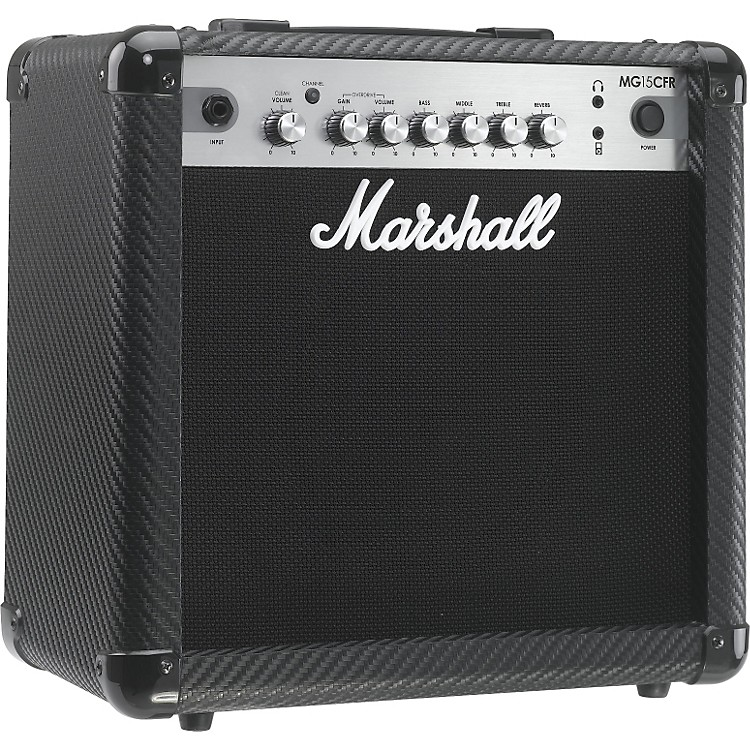 MarshallMG Series MG15CFR 15W 1x8 Guitar Combo AmpCarbon Fiber