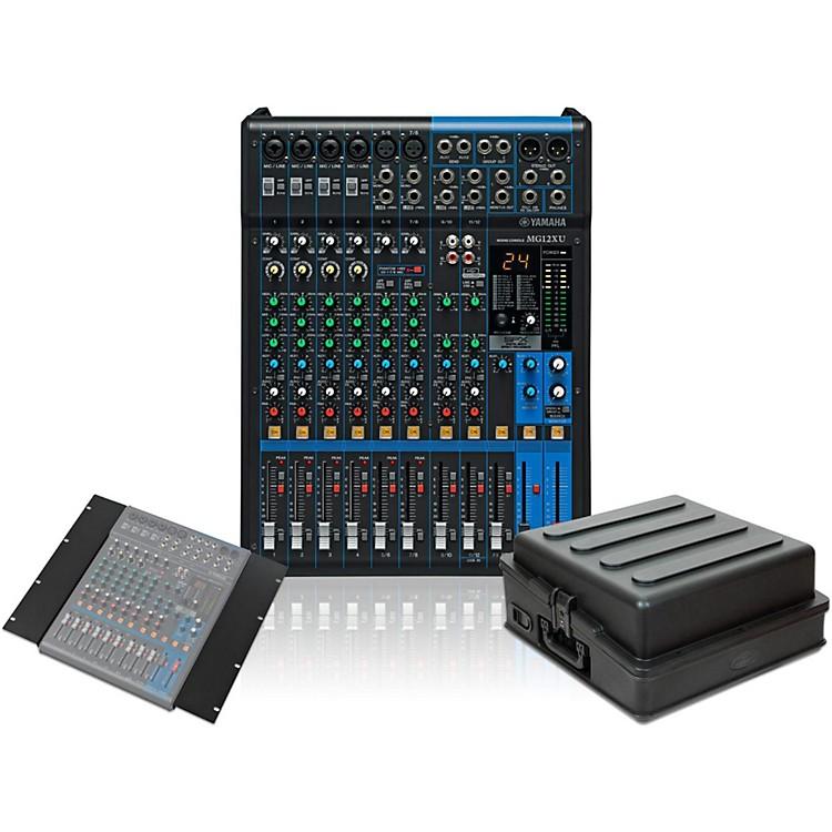 YamahaMG12XU Mixer with Rack Mount Kit and Case