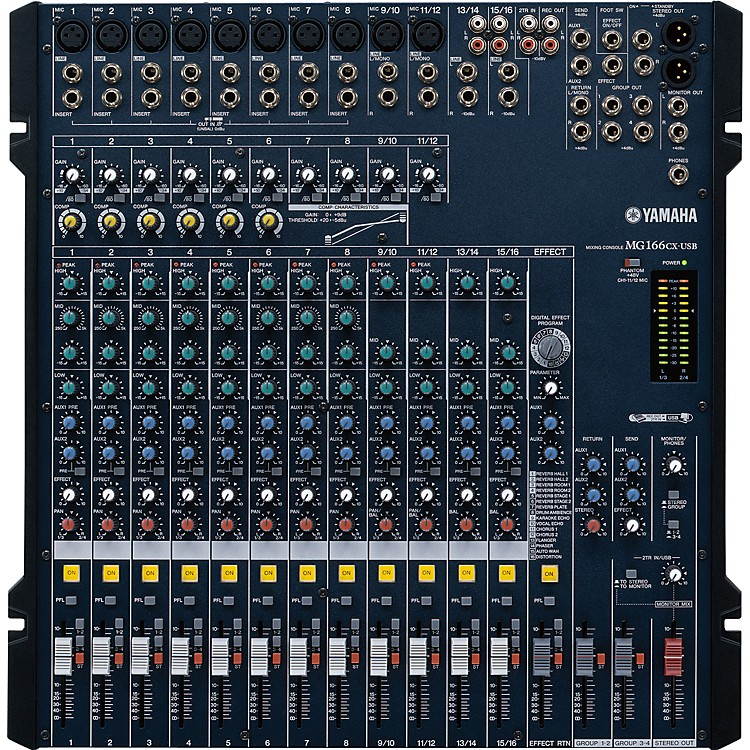 YamahaMG166CX-USB 16-Channel USB Mixer With Compression and Effects