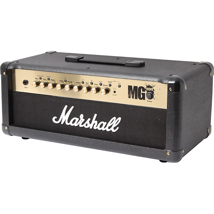 Marshall MG4 Series MG100HFX 100W Guitar Amplifier Head Black