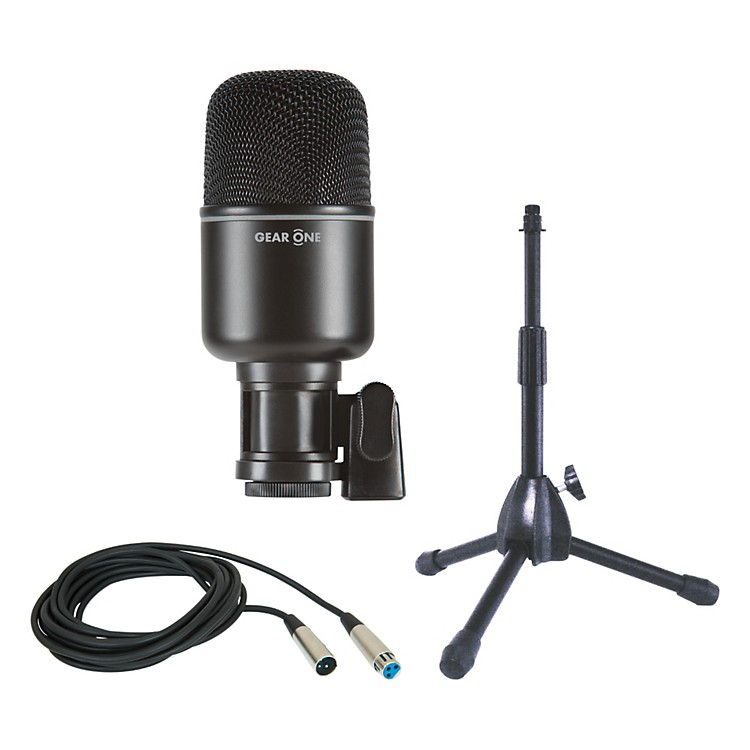 gear one mk1000 kick drum mic package with stand and cable music123. Black Bedroom Furniture Sets. Home Design Ideas
