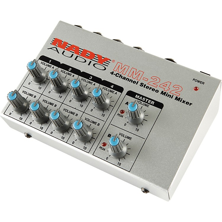 Nady MM-242 4-Channel Mini Mixer