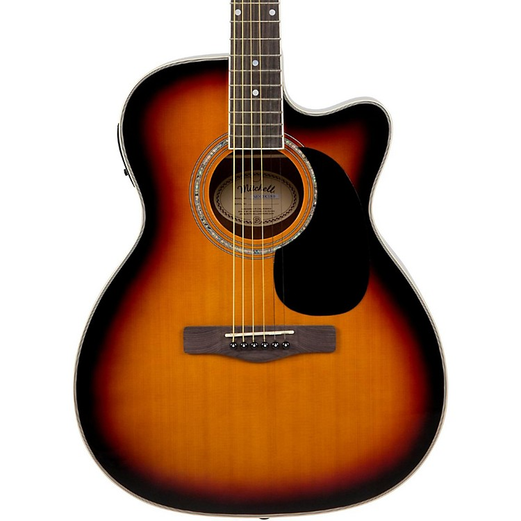 Mitchell MO120CESB Acoustic-Electric Cutaway Vintage Sunburst