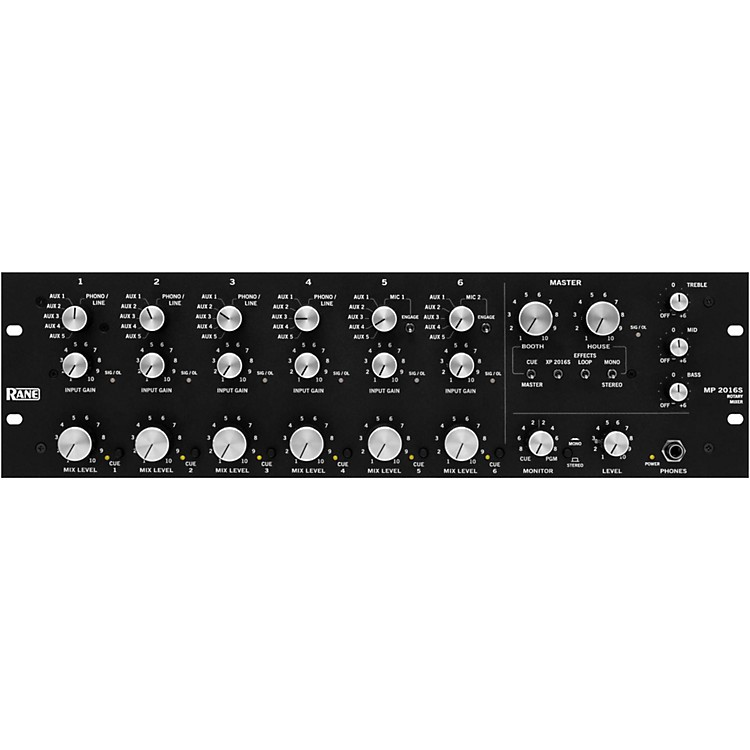 RaneMP 2016a 6-Channel Rotary Mixer