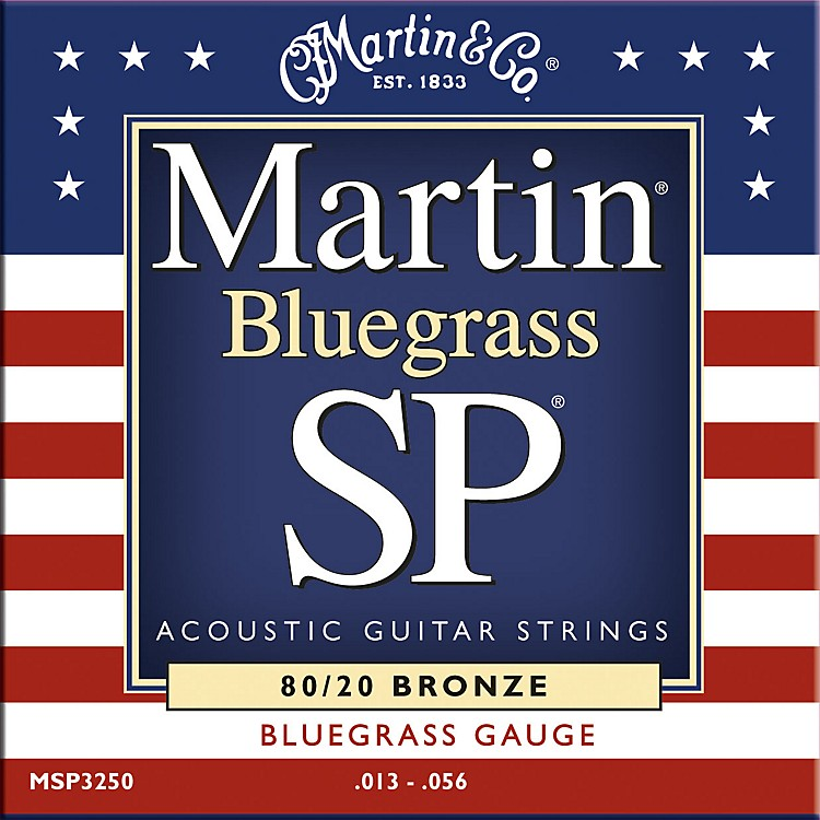 Martin MSP3250 SP Bronze Bluegrass Medium Acoustic Guitar Strings