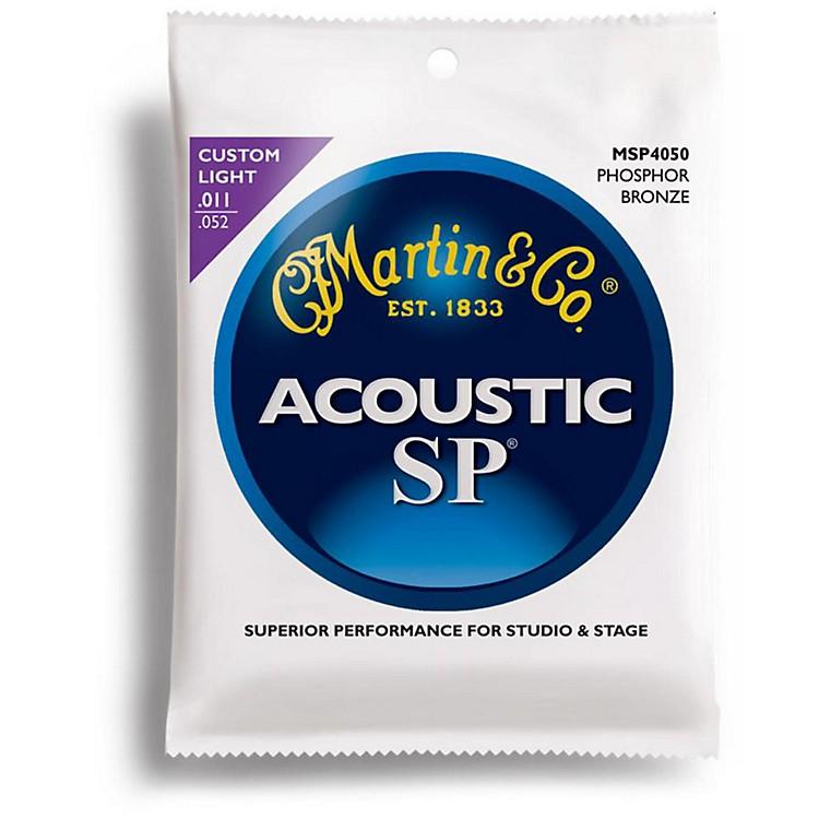 MartinMSP4050 SP Phosphor Bronze Custom Light Acoustic Guitar Strings
